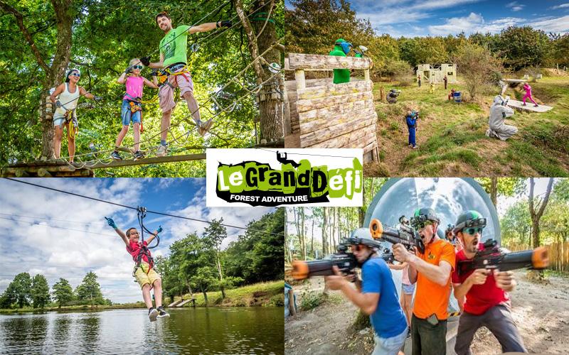 Villa-vendee - Vakantievilla in de Vendée - Les Jardins des Sables d'Olonne - Activiteitenpark Le Grand defi compositie