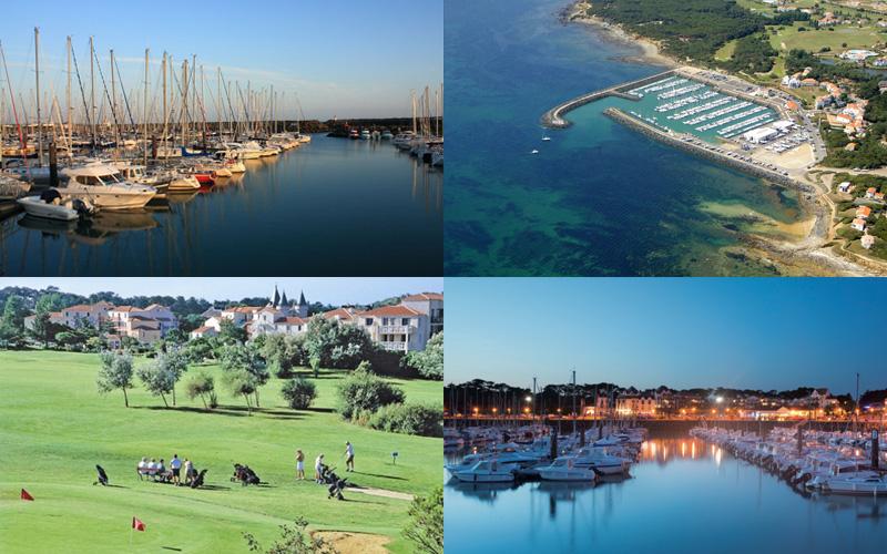 Villa-vendee - Vakantievilla in de Vendée - Les Jardins des Sables d'Olonne - Port Bourgenay compositie