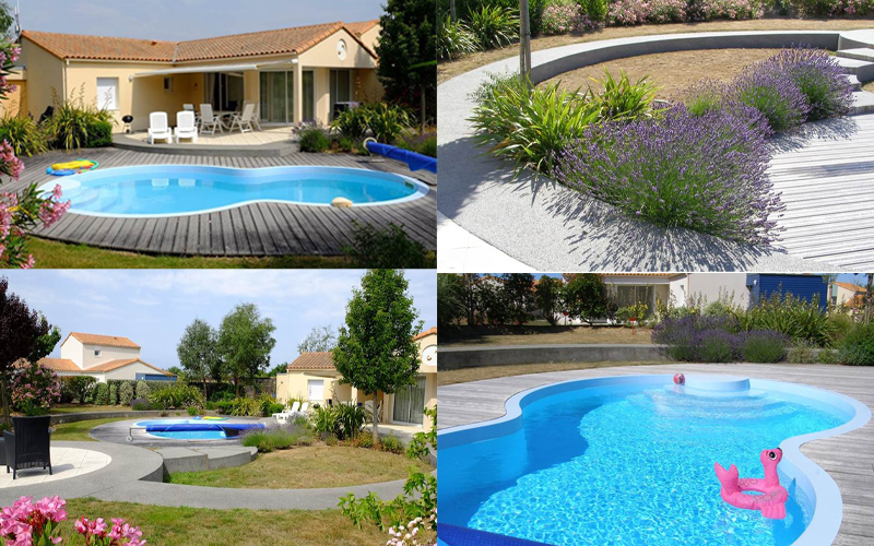 Villa-vendee - Vakantievilla in de Vendée - Les Jardins des Sables d'Olonne - Villa Acacia nr 28 compositie
