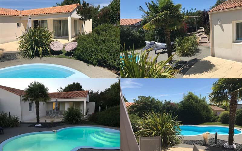 Villa-vendee - Vakantievilla in de Vendée - Les Jardins des Sables d'Olonne - Villa Acacia nr 56 compositie