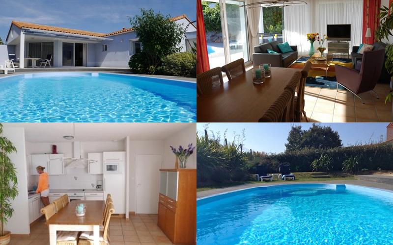 Villa-vendee - Vakantievilla in de Vendée - Les Jardins des Sables d'Olonne - Villa Acacia nr 57 compositie