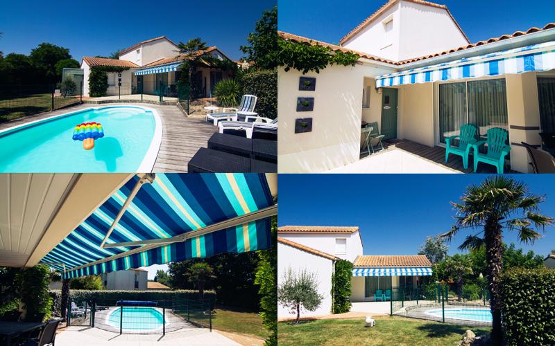 Villa-vendee - Vakantievilla in de Vendée - Les Jardins des Sables d'Olonne - Villa Sophora nr 3 compositie