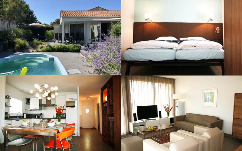 Villa-vendee - Vakantievilla in de Vendée - Les Jardins des Sables d'Olonne - Villa Acacia nr 22 compositie