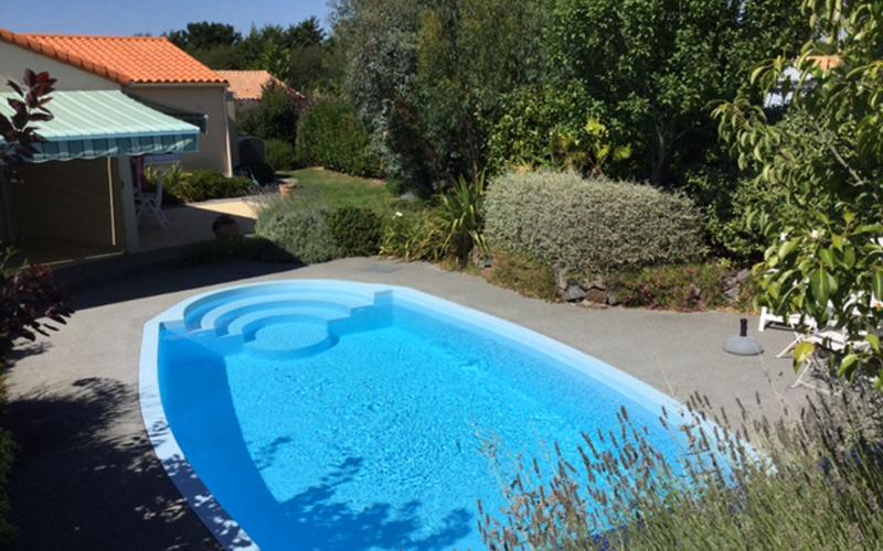 Villa-vendee - Vakantievilla in de Vendée - Les Jardins des Sables d'Olonne - Villa Acacia nr 117 back pool