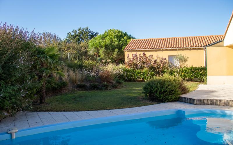 Villa-vendee - Vakantievilla in de Vendée - Les Jardins des Sables d'Olonne - Villa Acacia nr 39 tuin terras zwembad